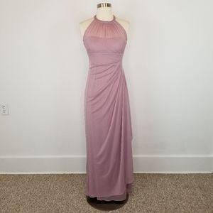 David's Bridal Quartz F15662 Long Bridesmaid Dress